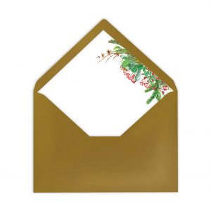 Gefütterter Briefumschlag Tannengrün, Liner, von Grünstich Papeterie