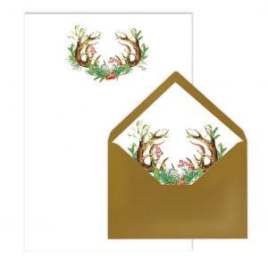 Briefpapier-Set Boho-Style, Liner, von Grünstich Papeterie