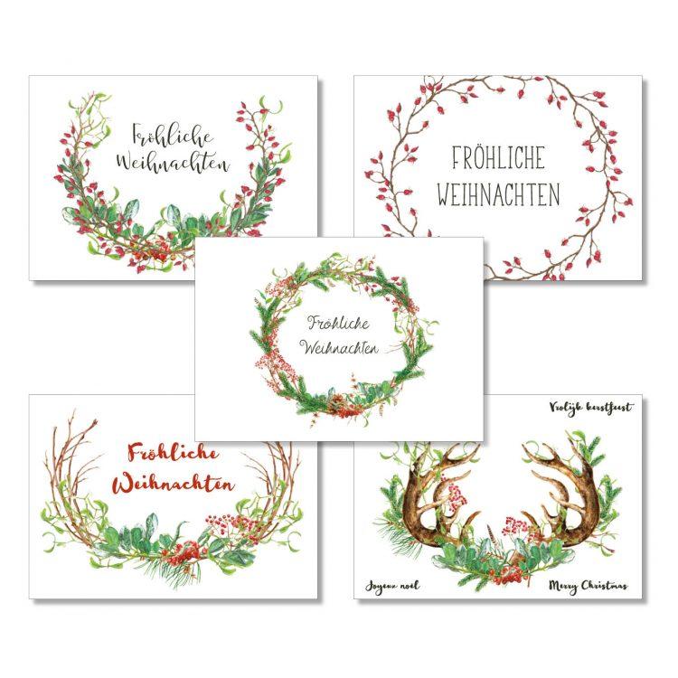 Postkarten-Set Grünstich Papeterie