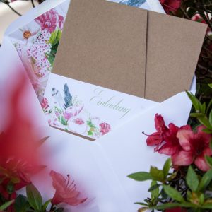 Hochzeitseinladung Boho-Style - Pocketfold Kraftpapier