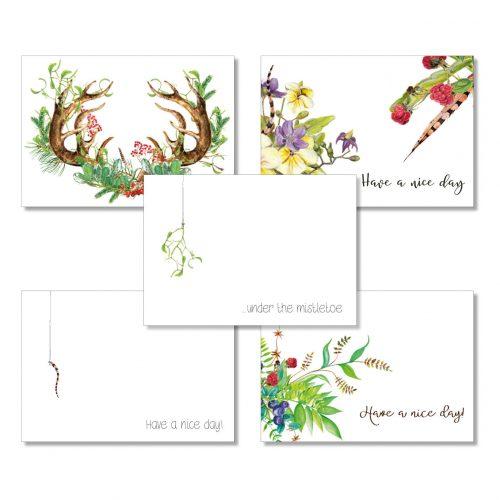 Postkarten-Set von Grünstich Papeterie