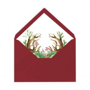 gefütterte Briefumschläge, weihnachtlich