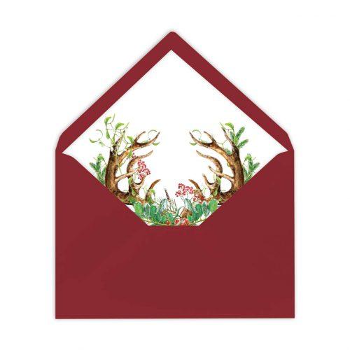 Gefütterter Briefumschlag Boho, Liner, von Grünstich Papeterie