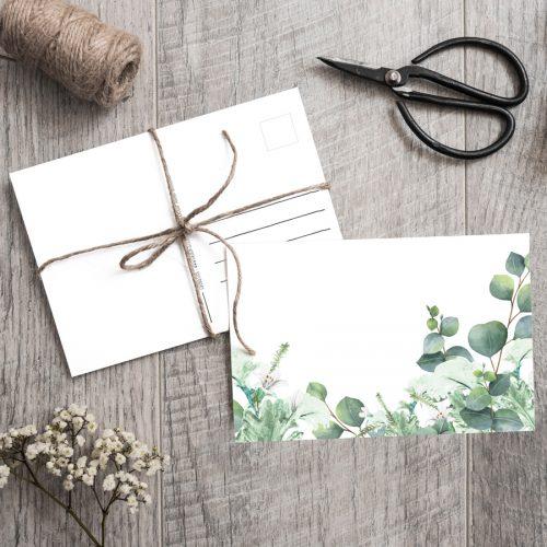 Postkarte Eucalyptus Greenery