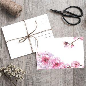 Postkarte Kirschblüte Sakura