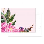 Postkarte Pfingstrose Peony Pink