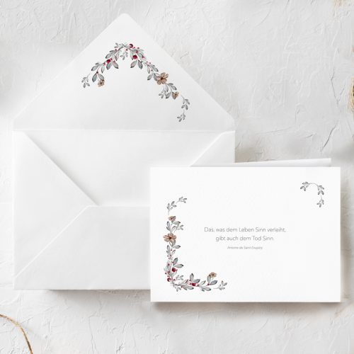 Trauerkarte Blumen