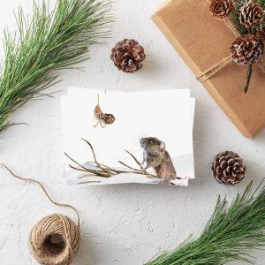 Postkarte Weihnachten Maus Weihnachtsgrüße