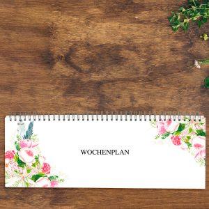Tischkalender zeitlos Boho-Style mit Roséfolie von Grünstich Papeterie