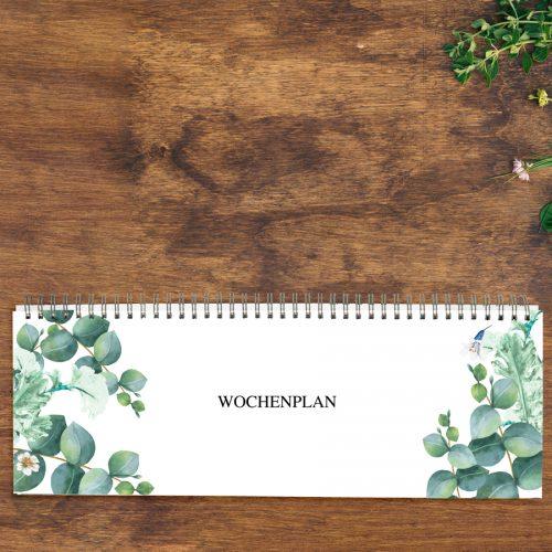 Tischkalender zeitlos Greenery Eucalyptus