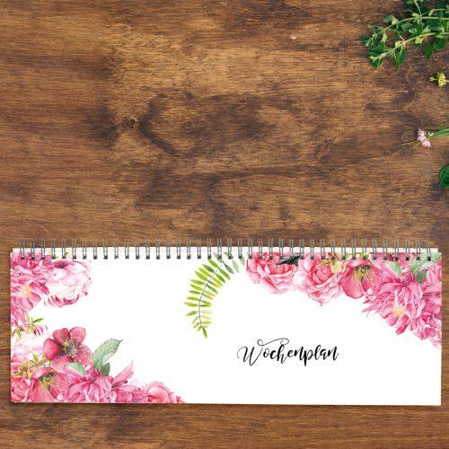 Tischkalender zeitlos Pinke Rosen von Grünstich Papeterie