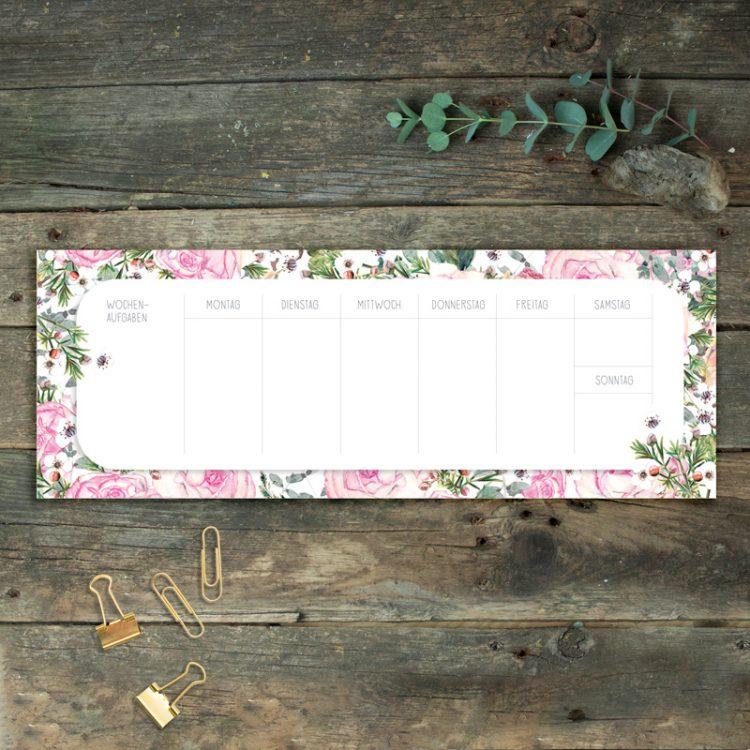 Notizblock Tischkalender Rosen