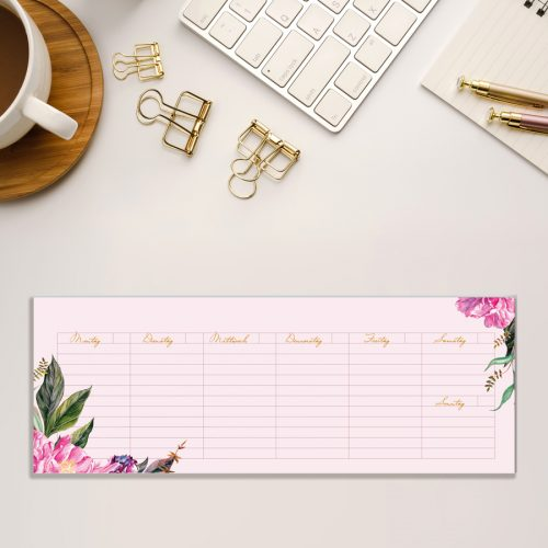 Kalender Notizblock Tischkalender Pfingstrose