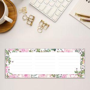 Kalender Notizblock Tischkalender Rosen von Grünstich Papeterie