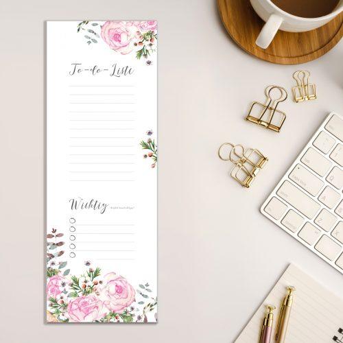 To-Do-Liste Einkaufsliste Rosen