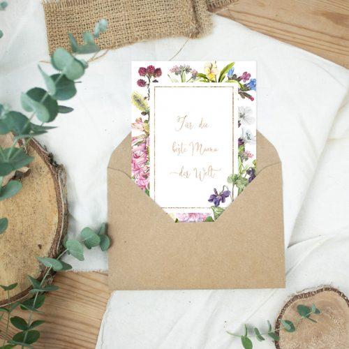 "Postkarte Muttertag ""Beste Mama"""
