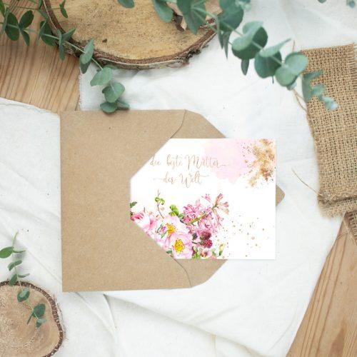 """Postkarte Muttertag """"Beste Mutter der Welt"""""""