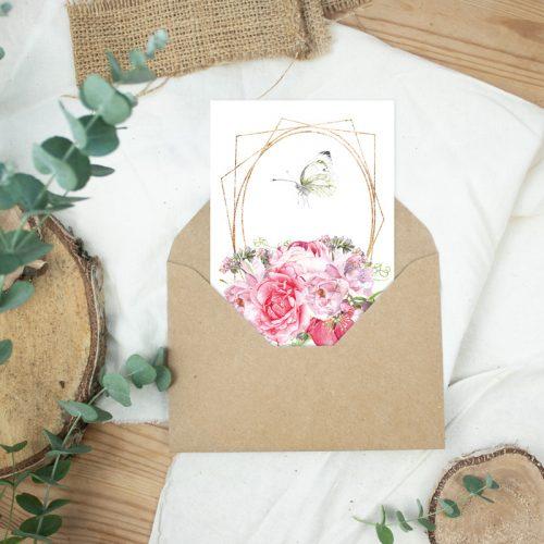 Postkarte Ostergrüße Schmetterling