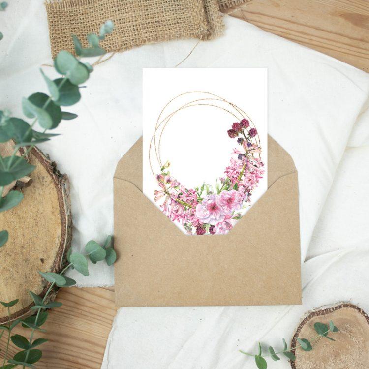 Postkarte Ostergrüße Frühblüher