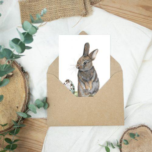 Postkarte Ostergrüße Osterhase