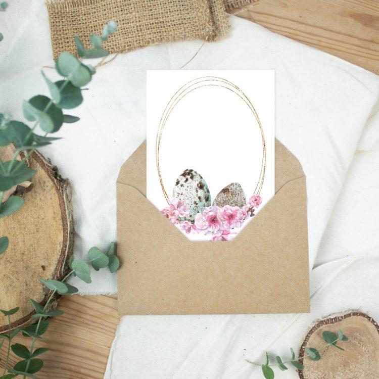 Postkarte Ostergrüße Ostereier