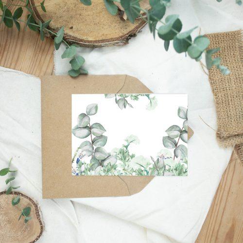 "Klappkarte Eucalyptus ""Greenery"""