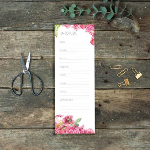 To-Do-Liste Sommerblumen