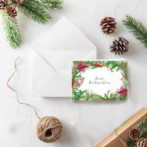 Klappkarte Weihnachten Weihnachtsgrün