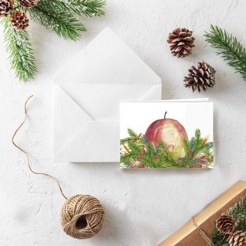 Klappkarte Weihnachten Bratapfel
