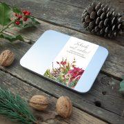 Weihnachtliche Grußkarten-Dose