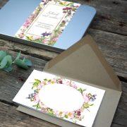Florale Grußkarten-Dose