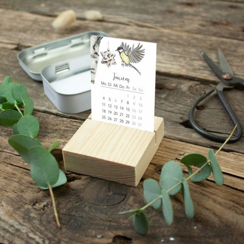 Tischkalender in der Dose