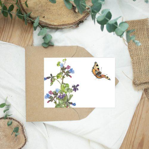 Klappkarte Kleiner Fuchs Schmetterling