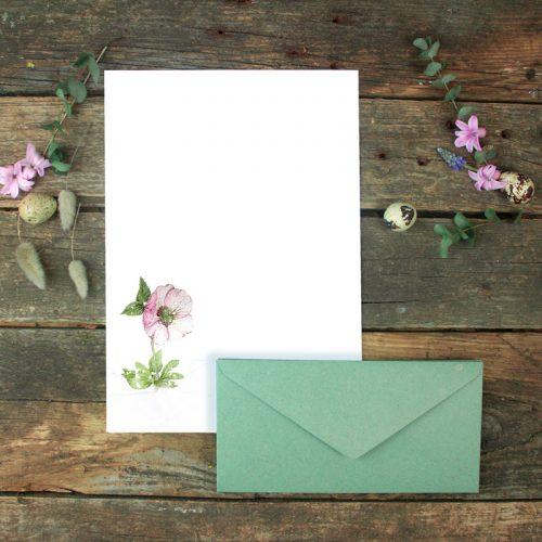 Briefpapier-Set Christrose