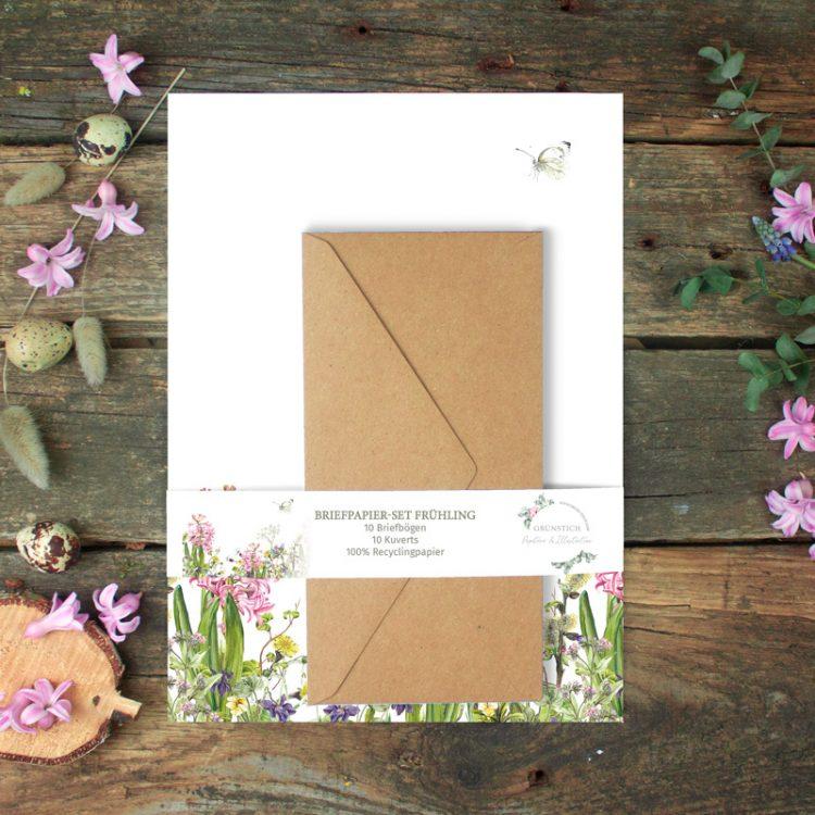 Briefpapier-Set Frühling