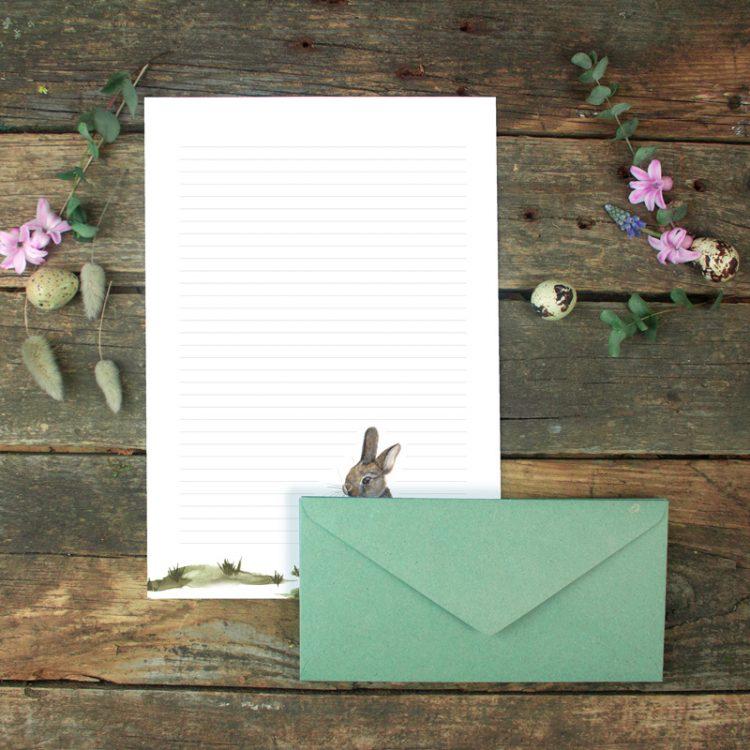 Briefpapier-Set Kaninchen