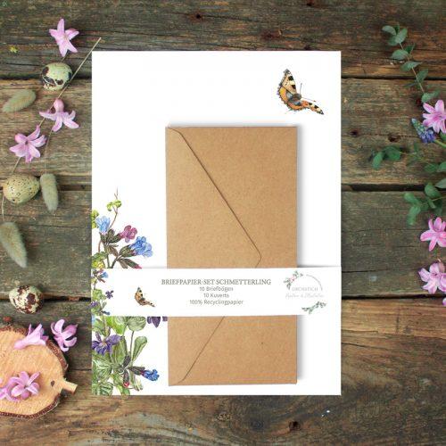Briefpapier-Set Schmetterling