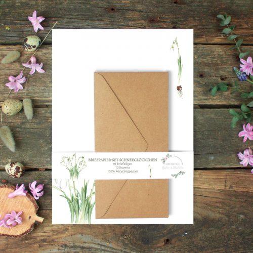 Briefpapier-Set Schneeglöckchen